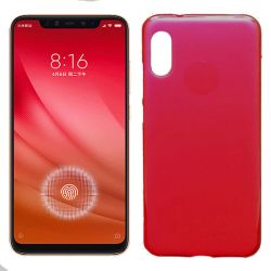 Funda de TPU Mate Lisa para Xiaomi Mi 8 Pro Silicona Flexible Rojo