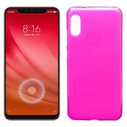 Funda de Silicona Semitransparente para Xiaomi Mi 8 Pro Rosa