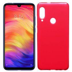 Funda de Silicona Semitransparente para Xiaomi Redmi Note 7 Rojo
