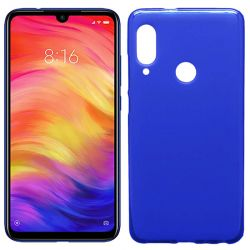 Funda de Silicona Semitransparente para Xiaomi Redmi Note 7 Azul