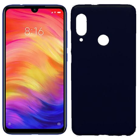 Funda de Silicona Semitransparente para Xiaomi Redmi Note 7 Negro