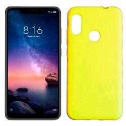 Funda de Silicona tipo iPhone para Xiaomi Redmi Note 6 Pro Amarillo