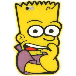 Funda 3D de Silicona Bart Simpson para iPhone 5 / 5S / SE