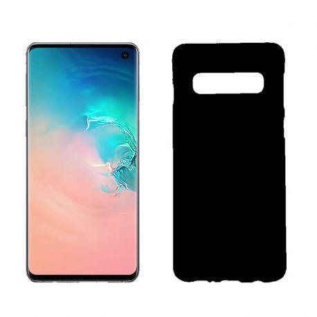 b93a1a1fc2f Funda silicona Samsung Galaxy S10 negro, trasera mate semitransparente