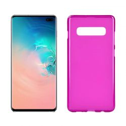Funda silicona Samsung Galaxy S10 Plus rosa mate semitransparente