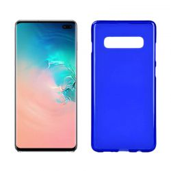 Funda silicona Samsung Galaxy S10 Plus azul mate semitransparente