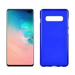 Funda silicona Samsung Galaxy S10 Plus azul mate semitransparente