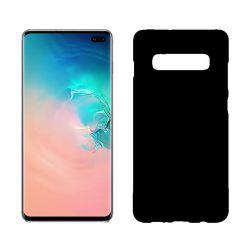 Funda silicona Samsung Galaxy S10 Plus negro mate