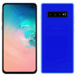 Funda silicona Samsung Galaxy S10E azul trasera mate semitransparente