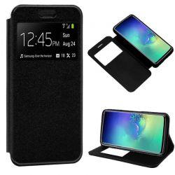 Funda libro con tapa, ventana y soporte Samsung Galaxy S10 Negro