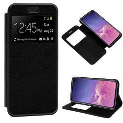 Funda libro con tapa, ventana y soporte Samsung Galaxy S10E Negro