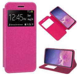 Funda libro con tapa, ventana y soporte Samsung Galaxy S10E Rosa