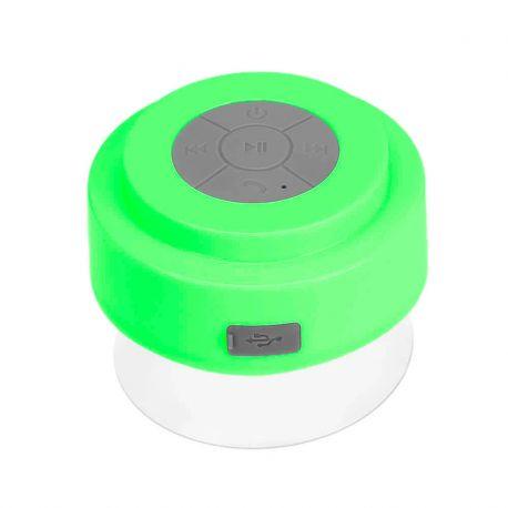 Altavoz Bluetooth con ventosa resistente al agua ideal Ducha Verde