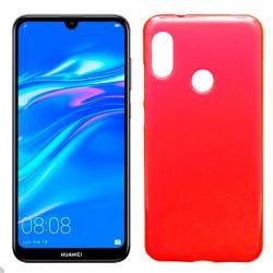 Funda de TPU Mate Lisa para Huawei Y7 2019 Silicona flexible Rojo