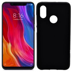 Funda de TPU Mate Lisa para Xiaomi Mi 8 Silicona Flexible Negro