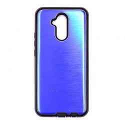 Funda trasera de Aluminio con interior Silicona Huawei Mate 20 Lite Azul
