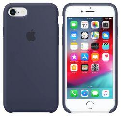 Funda de Silicona suave con logo para Apple iPhone 7 / 8 Azul Marino