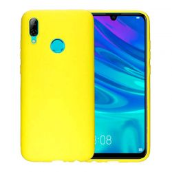 Funda de Silicona tipo iPhone para Huawei P Smart 2019 Amarillo