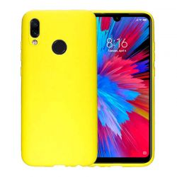 Funda de Silicona tipo iPhone para Xiaomi Redmi Note 7 Amarillo