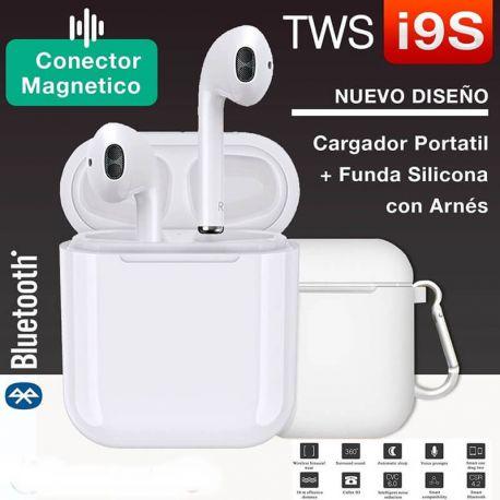 Auriculares Bluetooth Inalámbricos Manos Libres i9S-TWS Blanco