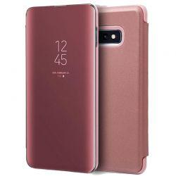 Funda Libro de espejo tipo Clear View para Samsung Galaxy S10E Rosa