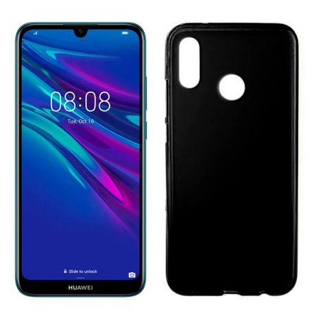 Funda silicona negro Huawei Y6 2019, trasera mate