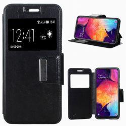Funda libro con Tapa, Ventana y Soporte - Samsung Galaxy A50 Negro