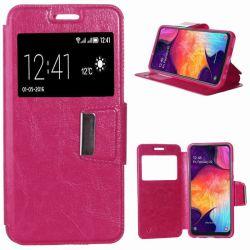 Funda libro con Tapa, Ventana y Soporte - Samsung Galaxy A50 Rosa