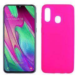 Funda TPU Mate Lisa Samsung Galaxy A40 Silicona Flexible Rosa