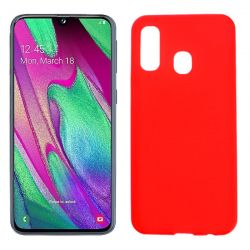 Funda TPU Mate Lisa Samsung Galaxy A40 Silicona Flexible Rojo