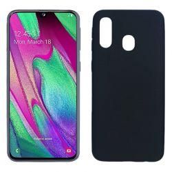 Funda TPU Mate Lisa Samsung Galaxy A40 Silicona Flexible Negro