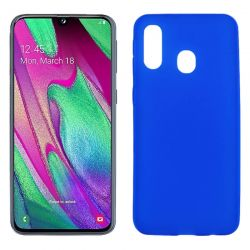 Funda TPU Mate Lisa Samsung Galaxy A40 Silicona Flexible Azul