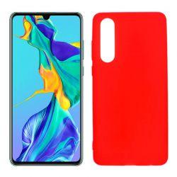 Funda de TPU Mate Lisa para Huawei P30 Silicona Rojo