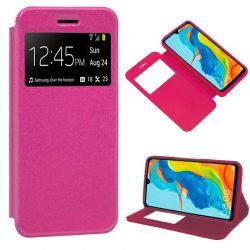 Funda libro con tapa, ventana y soporte - Huawei P30 Lite Rosa
