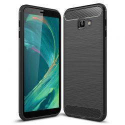Funda Silicona diseño fibra de carbono - Samsung Galaxy J4 Plus