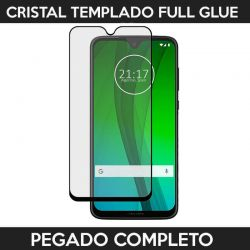 Protector pantalla adhesivo completo Motorola Moto G7 / G7 Plus Negro