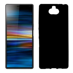 Funda silicona negro Sony Xperia 10, trasera semitransparente y mate