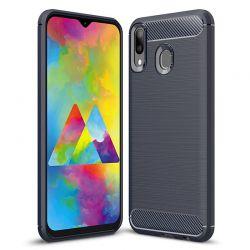 Funda Silicona diseño fibra de carbono - Samsung Galaxy M20