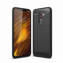 18cd68c0757 Funda Silicona diseño fibra de carbono - Xiaomi Pocophone F1
