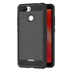 Funda Silicona diseño fibra de carbono - Xiaomi Redmi 6