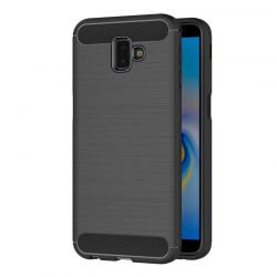 Funda Silicona diseño fibra de carbono - Samsung Galaxy J6 Plus