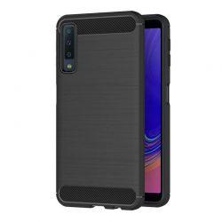 Funda Silicona diseño fibra de carbono - Samsung Galaxy A7 2018