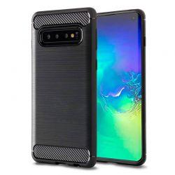 Funda Silicona diseño fibra de carbono - Samsung Galaxy S10
