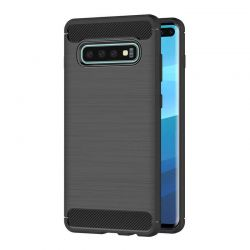 Funda Silicona diseño fibra de carbono - Samsung Galaxy S10 Plus