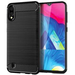 Funda Silicona diseño fibra de carbono - Samsung Galaxy M10