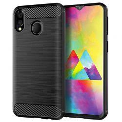 Funda Silicona diseño fibra de carbono - Samsung Galaxy M30