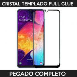 Protector pantalla pegado completo Samsung Galaxy A30S / A50 Negro
