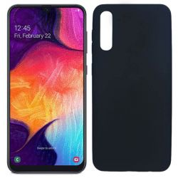 Funda TPU Mate Lisa Samsung Galaxy A50 Silicona Flexible Negro