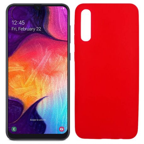 Funda Silicona lisa Roja para Samsung Galaxy A70
