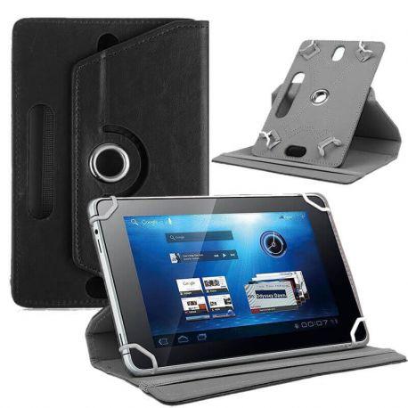 Funda Libro Universal Giratoria 360 y Soporte Tablets 7 pulgadas Negro